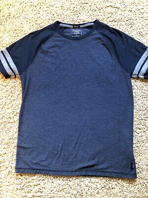 mens abercrombie and fitch muscle navy blue tshirt- size medium