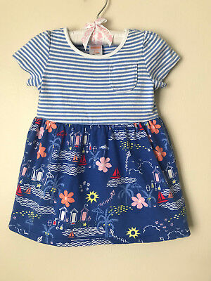 Gymboree Baby Girl Clothes 6-12 Months Nautical Blue Sun Dress  - Nautical Baby Girl Clothes