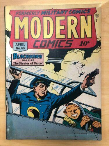 Modern Comics #48 Golden Age Blackhawk
