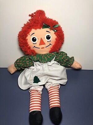 Vintage 1988 Playskool Christmas Raggedy Ann Doll #70106