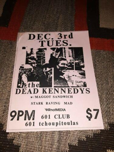 DEAD KENNEDYS W/Maggot Sandwich 1985 Concert Flyer 601 Club New Orleans