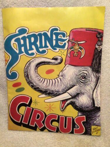 Vtg. Coloring Book Hadi Shrine Circus Roberts Stadium Evansville IN By Ray Dirgo
