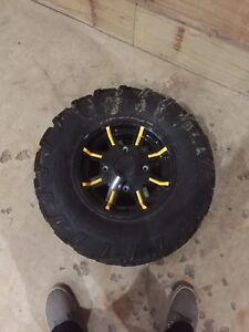 Canam rims with tires