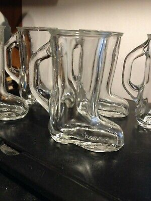 Set of 5 Vintage Cowboy Boot Shaped Shot Glass w/ Handle, 3