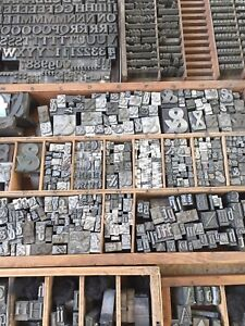 2 Printing Type Letters Metal Letterpress (listing is for 2 letters, SMALL Type)