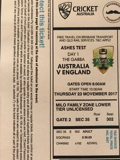 Ashes Test DAY 1 at The Gabba