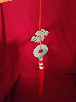 Oriental Endless Knot Asian Charm Feng Shui Hanging Mystic Love Knot & Dragons