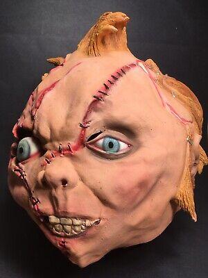 Chucky Latex Mask (Vtg CHUCKY Mask Full Head  Face Latex Universal Studio Signed Horror)