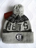 Brooklyn Nets Mitchell & Ness York Bobble Beanie Tuque Hat Nba Toque Osfa - mitchell & ness - ebay.co.uk