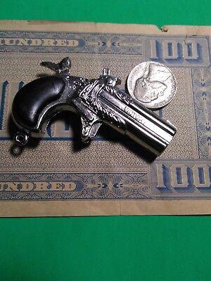 vintage Victory Mini Cap gun collectors POKER PLAYER Derringer toy Die Cast (Victory Cap)
