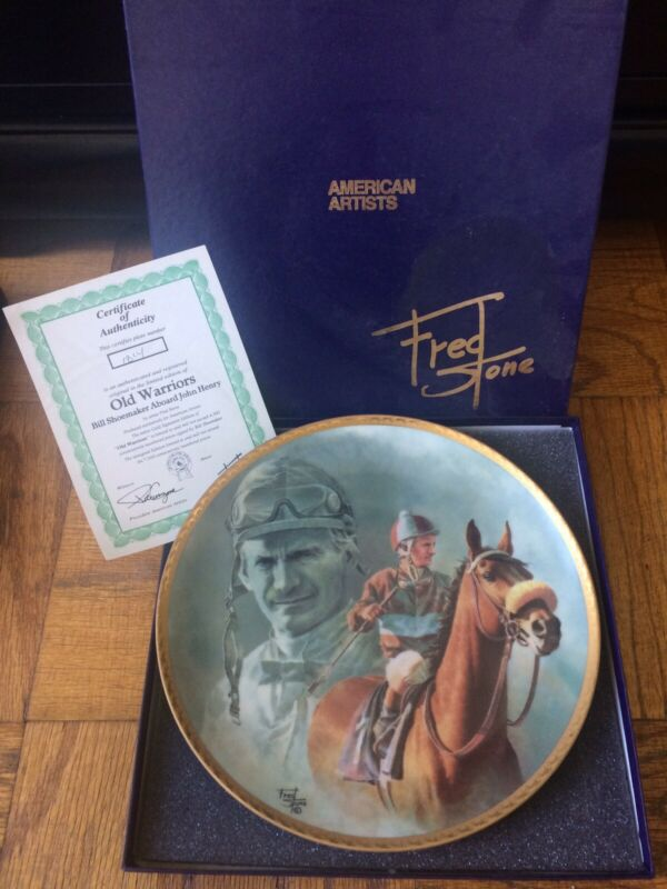 Fred Stone Plate, The Old Warriors, Bill Shoemaker/John Henry