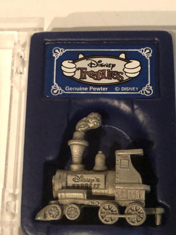 Disney Treasures Disney Express Pewter Train Miniature Collectible Original Box
