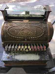 Antique Solid Brass NATIONAL Cash Register