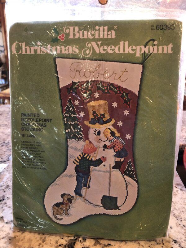 Bucilla Needlepoint Stocking Kit Snowman