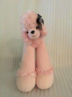 "Poodle Plush - Bestever Long Legged 11"" Pink Poodle Plush Stuffed Animal"