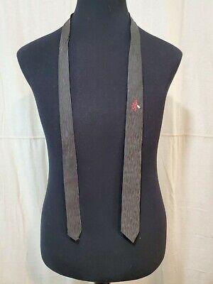 1960s – 70s Men's Ties | Skinny Ties, Slim Ties VTG  1960s Black with signal Lion design Retro thin 2 inches $13.00 AT vintagedancer.com