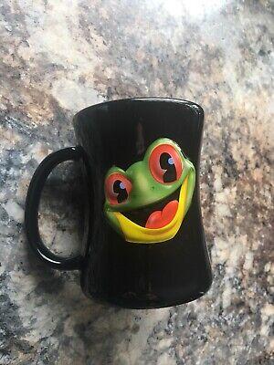 Rainforest Cafe 3D Black Tree Frog Coffee Mug Cup