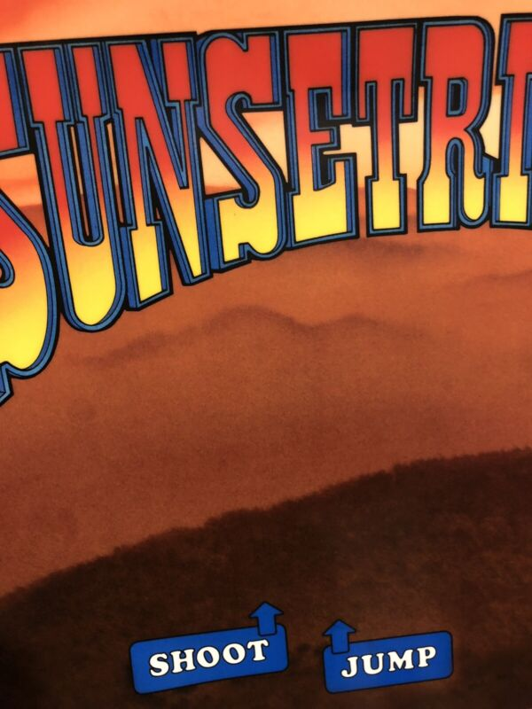 Sunset Riders Arcade Control Panel Overlay CPO Decal Sticker Konami