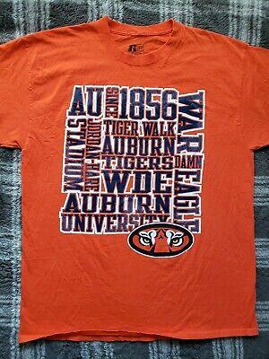 Auburn University Tigers T-Shirt XL Russell Athletic. School pride. WAR EAGLE!!! - Orange School Pride T-shirt