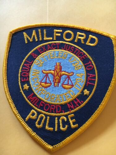 Milford New Hampshire Vintage Police Patch