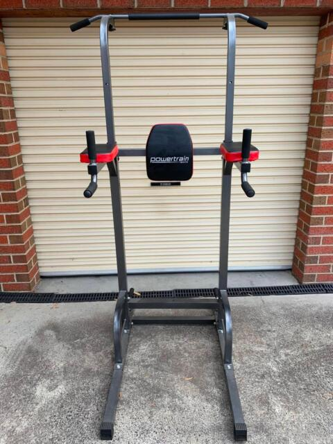 a9c203750bc Powertrain Tower Pull Chin Up Station Home Gym with Speed ball ...