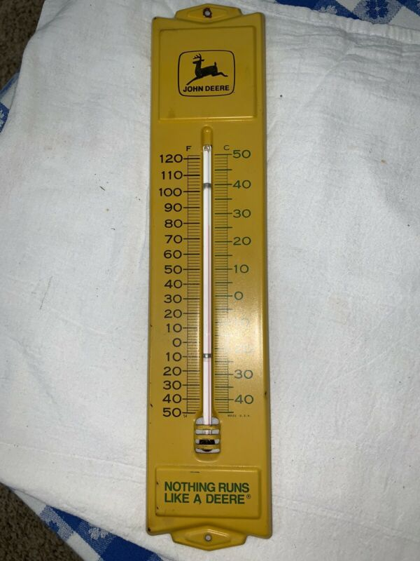 John Deere Thermometer Sign