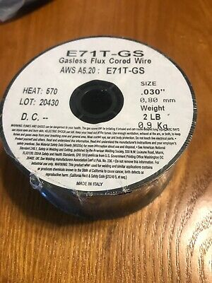 E71t-gs .030 X 2 Lb Mig Flux Core Welding Wire Spool