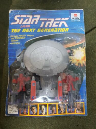 RARE 90 Vintage Star trek The next generation Space Ship Korea Figure Toy Model
