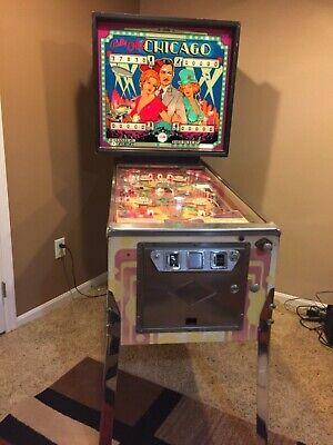 Bally Old Chicago Pinball Machine.