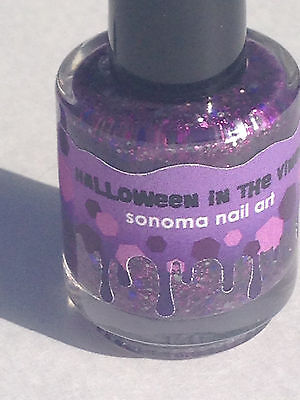 SONOMA NAIL ART POLISH HALLOWEEN IN THE VINES GLITTER LACQUER PURPLE INDIE](Purple Halloween Nail Art)