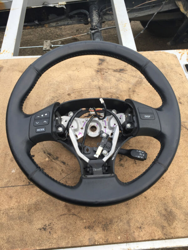 2006 LEXUS iS250 BLACK LEATHER STEERING WHEEL WITH CRUISE CONTROL STALK