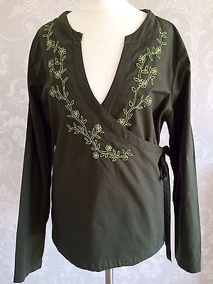 FAT FACE Wrap Blouse Top - SIZE 16 for sale  Shipping to South Africa