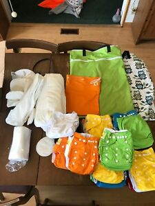 Cloth diapers and bags