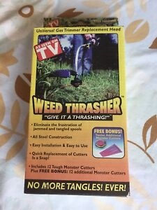 Weed Thrasher, gas trimmer head.