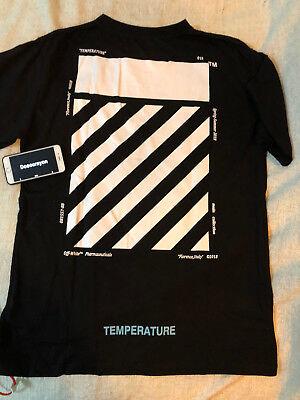 Off White c/o Virgil Abloh temperature 2018Oversized Tshirt Black Size US Medium