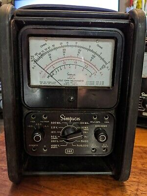 Vintage Simpson Model 260 Voltampohm Meter