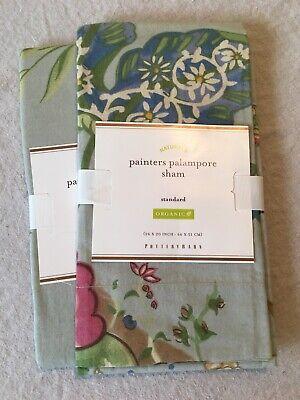 Set/2 Pottery Barn Painters Palampore Standard Shams Beautiful!!