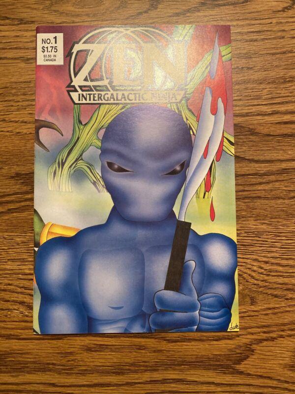 Zen Intergalactic Ninja #1 (1987) NM+ High Grade 1st App Zen HTF Low Print Nice!