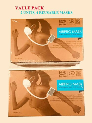 TWO BROAD Electrical Airpro Purifying Respirators (4 Reusable Masks)*Value Pack