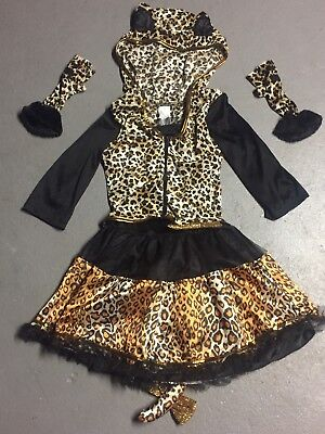 Girls Brown Black Leopard Kitty Cat Halloween costume Dress Up XL XLARGE 14 16 - Halloween Costume Brown Guy