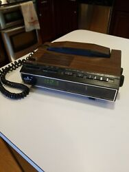Vintage COBRA Telephone Alarm Clock Radio Phone Faux Wood Walnut RP-720S