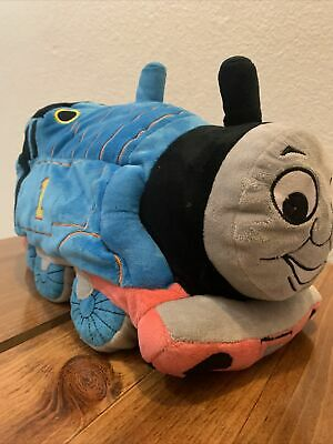 Thomas The Train Tank Engine Plush Cuddle Pillow Soft Beaded Stuffed Toy 15""