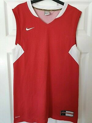 Nike Team NBA Basketball Jersey shirt men tank top size M red