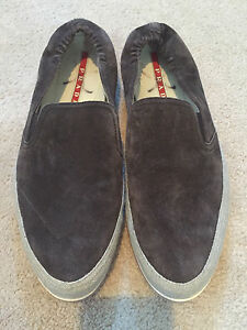 Men's Saint-Tropez suede Prada loafers size 9 or 9.5