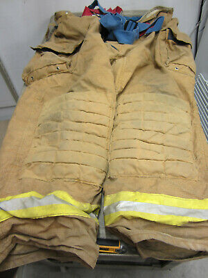 Size 50 X 31 Morning Pride Fire Fighter Turnout Pants - Vgc W Suspenders