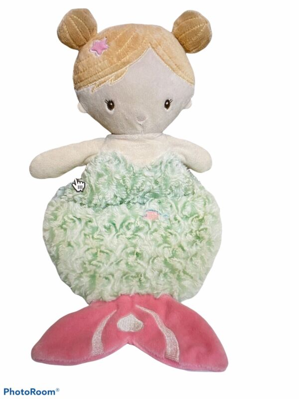 """Douglas Mermaid Girl Pink Baby Snuggle Security Blanket Lovey Toy 20"""""""