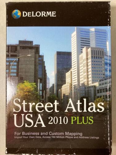 DeLorme Street Atlas USA 2010 Plus - New & Sealed