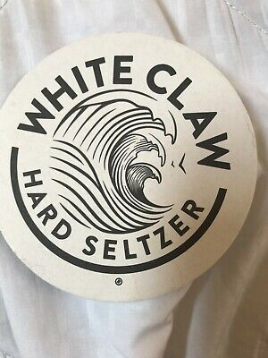 WHITE CLAW  BEER COASTER  MINT HARD SELTZER NEWEST COASTER BUY IT NOW !!