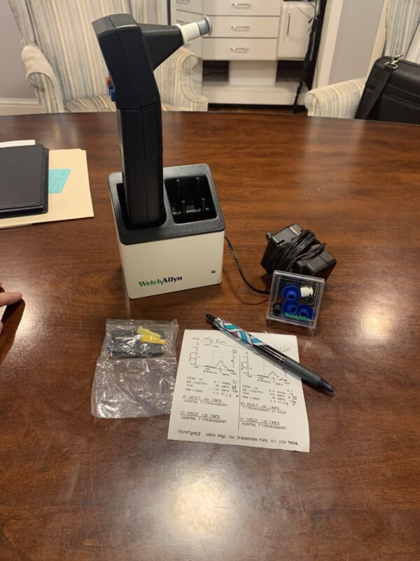 Welch Allyn MICROTYMP 2 Tympanometer w/ Tips Charger And Wall Mount