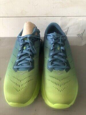 Hoka One One Men's Mach 2 Road Running Shoes Storm Blue/Lime Green Size 11 Lime Green Running Shoes